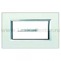 Legrand Bticino Axolute ha4804sa Жемчужное Серебро Рамка 4 мод прямоугольная