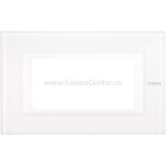 Legrand Bticino Axolute HA4804VBB Белое стекло Рамка 4 мод прямоугольная