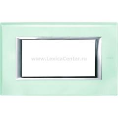 Legrand Bticino Axolute HA4804VKA Кристалл Рамка 4 мод прямоугольная