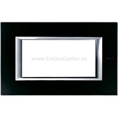 Legrand Bticino Axolute HA4804VNN Черное стекло Рамка 4 мод прямоугольная