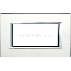 Legrand Bticino Axolute HA4804VSA Матовое стекло Рамка 4 мод прямоугольная