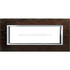 Legrand Bticino Axolute HA4806LWE Венге Рамка 6 модулей прямоугольная