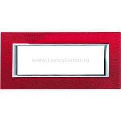 Legrand Bticino Axolute HA4806RC Рубин Рамка 6 мод прямоугольная