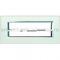 Legrand Bticino Axolute ha4806sa Жемчужное Серебро Рамка 6 модулей прямоугольная