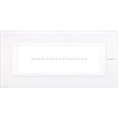 Legrand Bticino Axolute HA4806VBB Белое стекло Рамка 6 мод прямоугольная