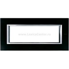 Legrand Bticino Axolute HA4806VNN Черное стекло Рамка 6 модулей прямоугольная