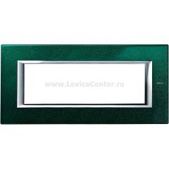 Legrand Bticino Axolute HA4806VS Малахит Рамка 6 модулей прямоугольная