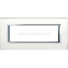Legrand Bticino Axolute HA4806VSA Матовое стекло Рамка 6 модулей прямоугольная
