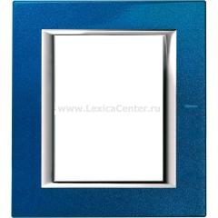 Legrand Bticino Axolute HA4826BM Сапфир Рамка 3+3 мод прямоугольная
