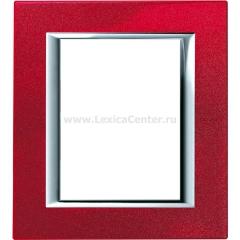 Legrand Bticino Axolute HA4826RC Рубин Рамка 3+3 мод прямоугольная