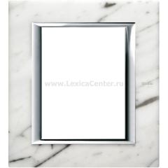 Legrand Bticino Axolute HA4826RMC Белый мрамор Каррара Рамка 3+3 мод прямоугольная