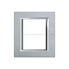 Legrand Bticino Axolute ha4826sa Жемчужное Серебро Рамка 3+3 мод прямоугольная