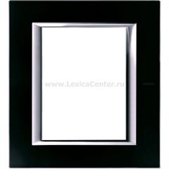 Legrand Bticino Axolute HA4826VNN Черное стекло Рамка 3+3 мод прямоугольная