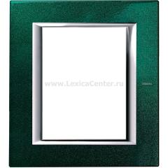 Legrand Bticino Axolute HA4826VS Малахит Рамка 3+3 модулей прямоугольная