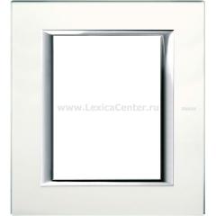 Legrand Bticino Axolute HA4826VSA Матовое стекло Рамка 3+3 мод прямоугольная