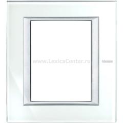 Legrand Bticino Axolute HA4826VSW Whice Рамка 3+3 мод прямоугольная