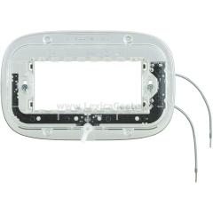 Legrand Bticino Axolute HB4704X Суппорт с подсветкой 230 Вт 2,5мА 0,3Вт для эллипс. рамки 4 мод