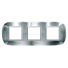 Legrand Bticino Axolute HB4802/3ACS Фактурная сталь Рамка 2+2+2 мод эллипс