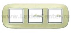 Legrand Bticino Axolute HB4802/3DA Бежевая карамель Рамка 2+2+2 мод эллипс