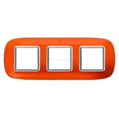 Legrand Bticino Axolute HB4802/3DR Апельсиновая карамель Рамка 2+2+2 мод эллипс