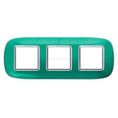 Legrand Bticino Axolute HB4802/3DV Мятная карамель Рамка 2+2+2 мод эллипс
