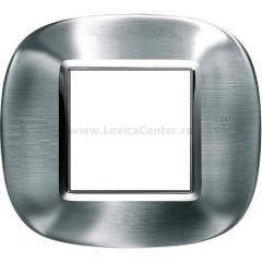 Legrand Bticino Axolute HB4802AXS Фактурная сталь Alessi Рамка 2 мод эллипс