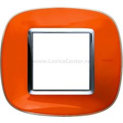 Legrand Bticino Axolute HB4802DR Апельсиновая карамель Рамка 2 мод эллипс