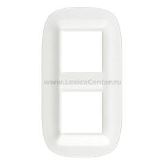Legrand Bticino Axolute HB4802M2CGW Белый Corian Рамка 2+2 мод эллипс
