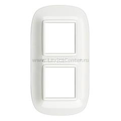 Legrand Bticino Axolute HB4802M2HD White Рамка 2+2 мод эллипс