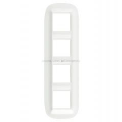 Legrand Bticino Axolute HB4802M4CGW Белый Corian Рамка 2+2+2+2 мод эллипс