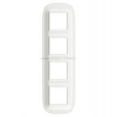 Legrand Bticino Axolute HB4802M4HD White Рамка 2+2+2 мод эллипс