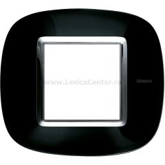 Legrand Bticino Axolute HB4802NR Роскошный черный Рамка 2 мод эллипс