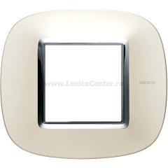 Legrand Bticino Axolute HB4802SAN Матовое серебро Рамка 2 мод эллипс