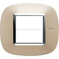 Legrand Bticino Axolute HB4802TC Светлый титан Рамка 2 мод эллипс