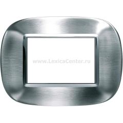 Legrand Bticino Axolute HB4803AXS Фактурная сталь Alessi Рамка 3 мод эллипс