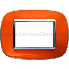 Legrand Bticino Axolute HB4803DR Апельсиновая карамель Рамка 3 мод эллипс