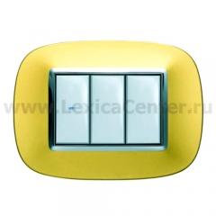 Legrand Bticino Axolute HB4803OS Матовое золото Рамка 3 мод эллипс