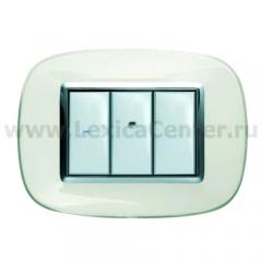 Legrand Bticino Axolute hb4803sa Матовое серебро Рамка 3 мод эллипс