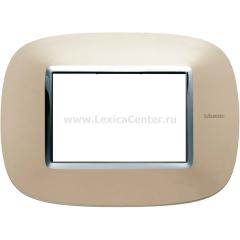 Legrand Bticino Axolute HB4803TC Светлый титан Рамка 3 мод эллипс