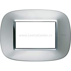 Legrand Bticino Axolute HB4803XC Зеркальный Алюминий Рамка 3 мод эллипс
