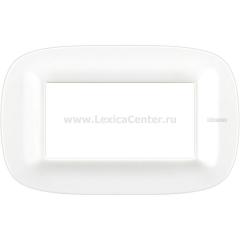 Legrand Bticino Axolute HB4804CGW Белый Corian Рамка 4 мод эллипс