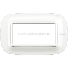 Legrand Bticino Axolute HB4804HD White Рамка 4 мод эллипс