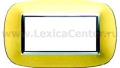 Legrand Bticino Axolute HB4804OS Матовое золото Рамка 4 мод эллипс