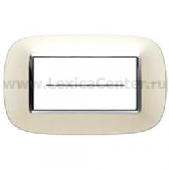 Legrand Bticino Axolute hb4804sa Матовое серебро Рамка 4 мод эллипс