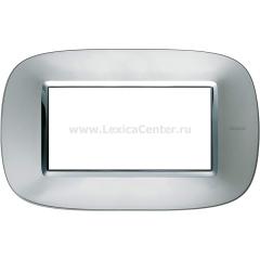 Legrand Bticino Axolute HB4804XC Зеркальный Алюминий Рамка 4 мод эллипс