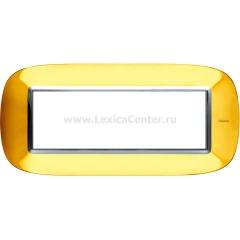 Legrand Bticino Axolute HB4806OR Золото Рамка 6 мод эллипс