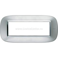 Legrand Bticino Axolute HB4806XC Зеркальный Алюминий Рамка 6 мод эллипс