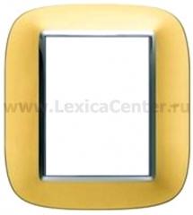 Legrand Bticino Axolute HB4826OS Матовое золото Рамка 3+3 мод эллипс