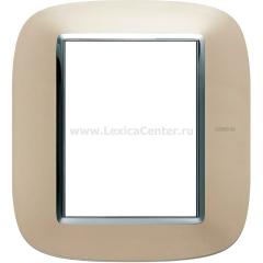 Legrand Bticino Axolute HB4826TC Светлый титан Рамка 3+3 мод эллип
