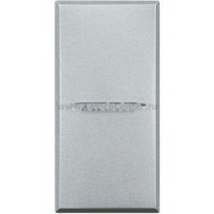 Legrand Bticino Axolute HC4005 Алюминий Axial Выключатель кнопочный 10А (1NO контакт), 1 мод